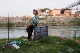 Near Ponte dell'Industria. Laura is 66. Since the death of her mother in 2006, she has been living on the streets under God's protection, who she calls Dad. In December 2013 she built a more comfortable shelter near the river bank.