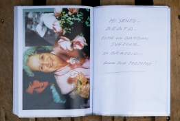 """i feel blessed like a child in its mother's arms"". Some pages from Laura's screpbook."