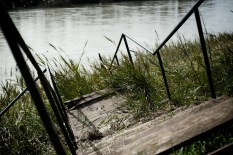 Near Ponte Milvio. The steps from the cycle lane to the river bank, in a state of abandonment since November 2012.